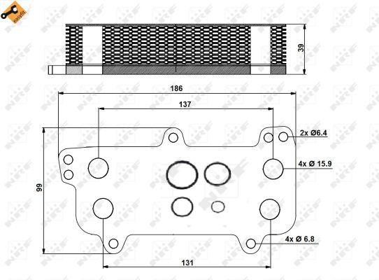 VW-CARAVELLE-Mk5-2-5D-Oil-Cooler-04-to-09-Radiator-NRF-070117021D-VOLKSWAGEN-New