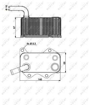 AUDI-A6-4F-2-0-Oil-Cooler-05-to-11-Radiator-NRF-06D117021C-Quality-Replacement