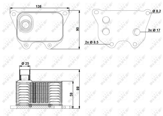 VW-CC-358-2-0-Oil-Cooler-11-to-16-CCZB-Radiator-NRF-06J117021D-06J117021J-New thumbnail 1