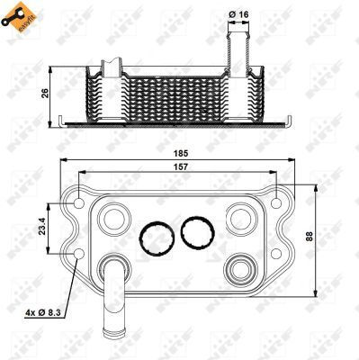 VOLVO-XC70-295-2-5-Oil-Cooler-02-to-07-B5254T2-Radiator-NRF-31201910-8653372-New