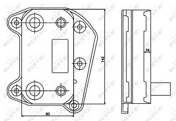 MERCEDES-V200-638-2-2D-Oil-Cooler-99-to-03-OM611-980-Radiator-NRF-6111880301-New