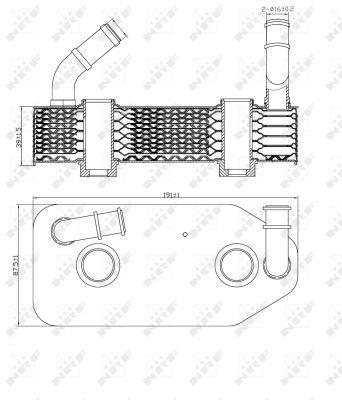 AUDI-A3-8L-1-6-Oil-Cooler-96-to-03-Radiator-NRF-096409061D-096409061F-096409061G