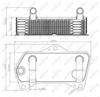 SEAT-LEON-1P1-1-8-Oil-Cooler-07-to-12-Radiator-NRF-02E409061B-Quality-New