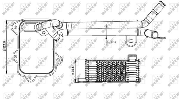 SKODA-FABIA-542-1-4-Oil-Cooler-10-to-14-Radiator-NRF-03C117021E-03C117021J-New