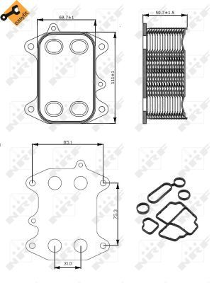 VW-SHARAN-7N-2-0D-Oil-Cooler-2010-on-6767571RMP-Radiator-NRF-03L115389B-Quality