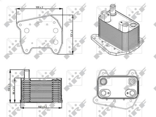 MERCEDES-SPRINTER-905-2-7D-Oil-Cooler-2001-on-OM612-981-Auto-Radiator-NRF-New