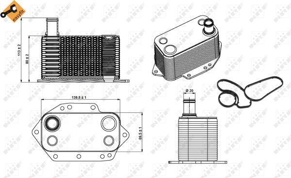 Oil-Cooler-fits-BMW-335-E91-3-0D-06-to-12-Radiator-NRF-11427788462-Quality-New