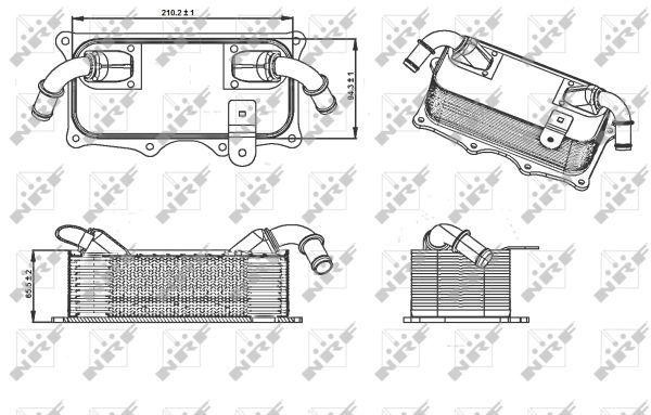 PORSCHE-PANAMERA-970-3-6-Oil-Cooler-10-to-16-Radiator-NRF-94810728121-Quality