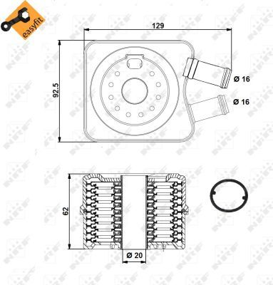 AUDI-A4-8D-8E-8H-Oil-Cooler-1-6-1-8-1-9D-99-to-01-Radiator-NRF-028117021B-New