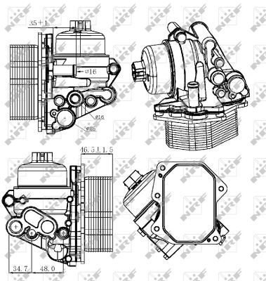 CITROEN-RELAY-150-2-2D-Oil-Cooler-2011-on-7112496RMP-Radiator-NRF-1103Q1-Quality