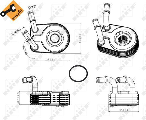 FIAT-MULTIPLA-186-1-9D-Oil-Cooler-02-to-10-Radiator-NRF-55180933-60801915-New