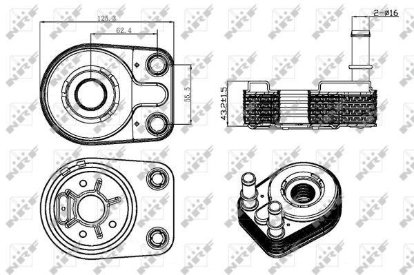 FIAT-DOBLO-223AXB1A-1-9D-Oil-Cooler-2001-on-223A6-000-Radiator-NRF-46810102-New