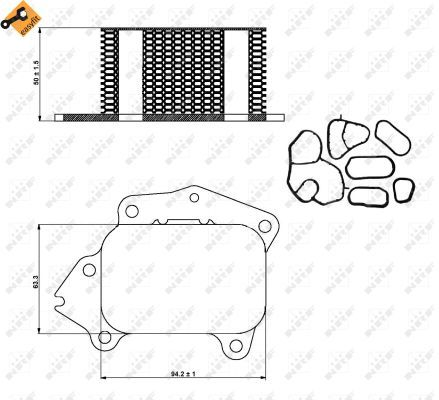 FORD-FUSION-1-6D-Oil-Cooler-04-to-07-Radiator-NRF-1254386-1313808-1362743-New