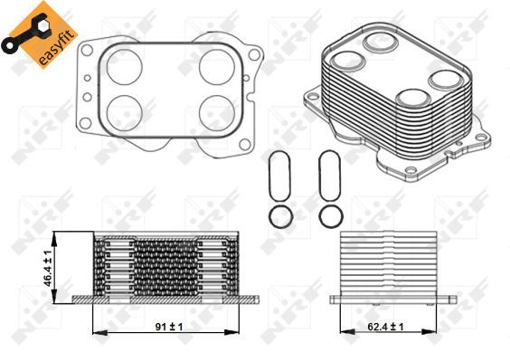 FORD-C-MAX-II-2-0D-Oil-Cooler-2007-on-Radiator-NRF-1232498-1256739-1363095-New