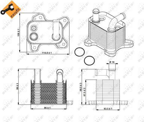 VAUXHALL-COMBO-C-1-7D-Oil-Cooler-04-to-11-Z17DTH-Radiator-NRF-5650345-5650756