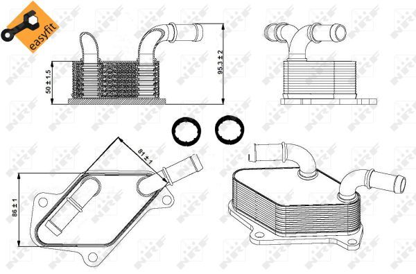 VAUXHALL-INSIGNIA-A-2-0-Oil-Cooler-08-to-17-Radiator-NRF-12601390-12639408-New thumbnail 1