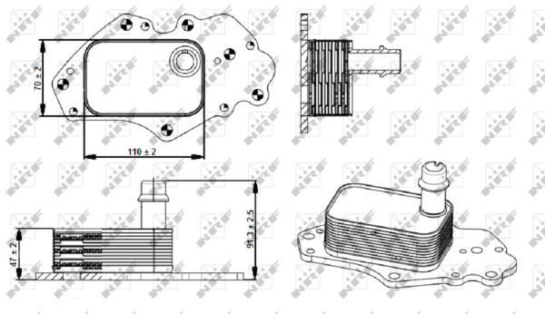 OPEL-ASTRA-K-1-6D-Oil-Cooler-2015-on-Radiator-NRF-55494842-55599943-650216-New
