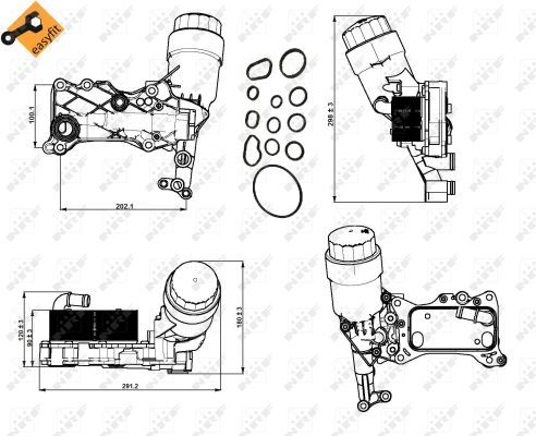 MERCEDES-C200-S204-W204-2-1D-Oil-Cooler-10-to-14-OM651-913-Radiator-NRF-Quality