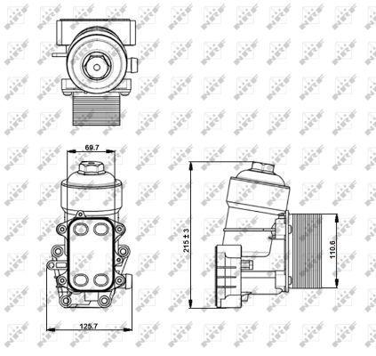 VW-CRAFTER-2E-2F-2-0D-Oil-Cooler-11-to-16-6625017RMP-Radiator-NRF-03L115389B
