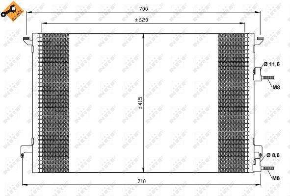 Nissens 94675 AC Condenseur Fit SAAB 9-3 02