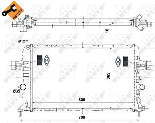 VAUXHALL ASTRA H 1.8 Radiator 04 to 10 5 Speed MTM Coolant NRF 1300266 13145211