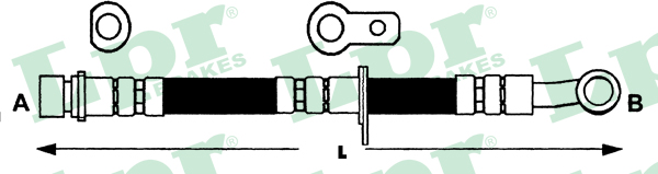 Brake Hose fits HONDA CIVIC EG5 1.6 Front Right 91 to 95 D16Z6 Hydraulic B/&B New