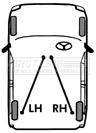 Le câble de frein à main FKB1749 première ligne frein à main parking 8970181544 8970181545 nouveau
