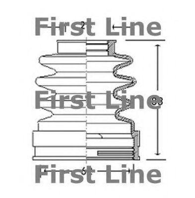 CV Joint Boot Kit FCB2771 First Line C.V Driveshaft Gaiter 328788 Quality New