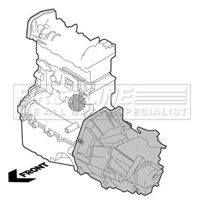 ALFA ROMEO MITO 955AXY1B 0.9 Engine Mount Rear 2013 on 199B6.000 Mounting B/&B