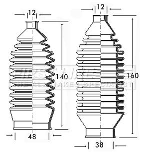 Steering Rack Boot fits SUZUKI BALENO SY418 1.8 96 to 02 J18A Gaiter Bellow New