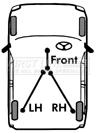 Handbrake-Cable-fits-TOYOTA-STARLET-EP80-1-0-Left-1992-1E-Hand-Brake-Parking-New thumbnail 2