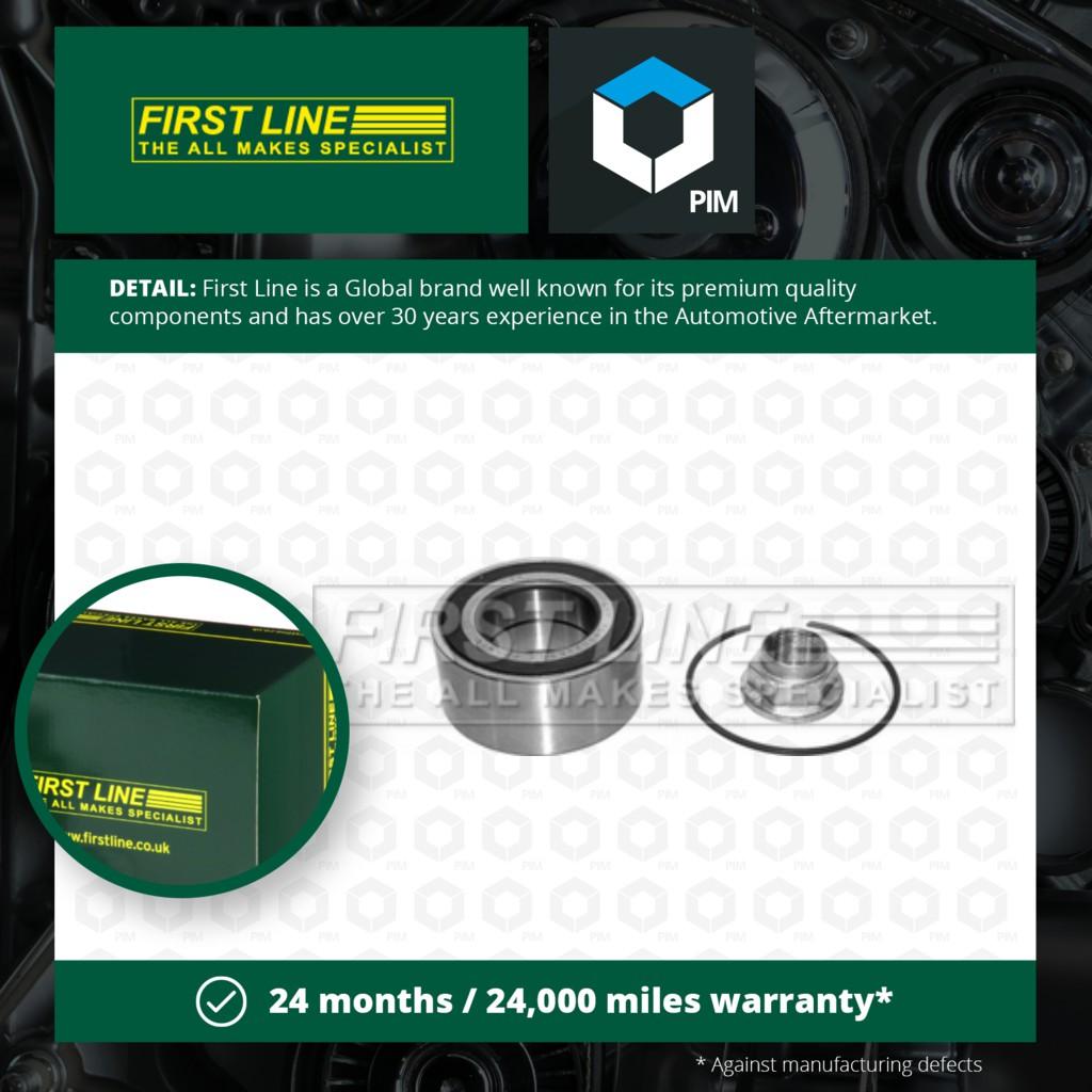 First Line FBK947 Wheel Bearing Kit Motors Wheel Accessories ...