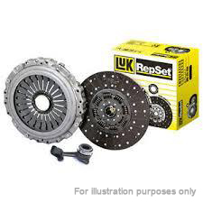 VW TIGUAN 5N 2.0D Clutch Kit 3pc (Cover+Plate+CSC) 08 to 10 240mm LuK VOLKSWAGEN