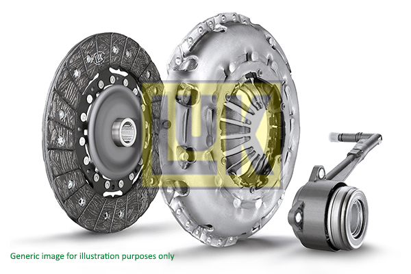 LuK Clutch Kit 3pc (Cover+Plate+CSC) 625305635 [PM172030]