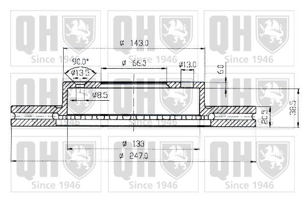 Mercedes S320 W221 3.0D 2x Discos De Freno con ventilación delantero de 05 a 13 335mm Set QH Par