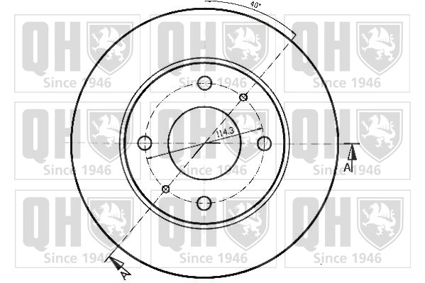 2x Brake Discs (Pair) Vented 257mm BDC3773 Quinton Hazell Set