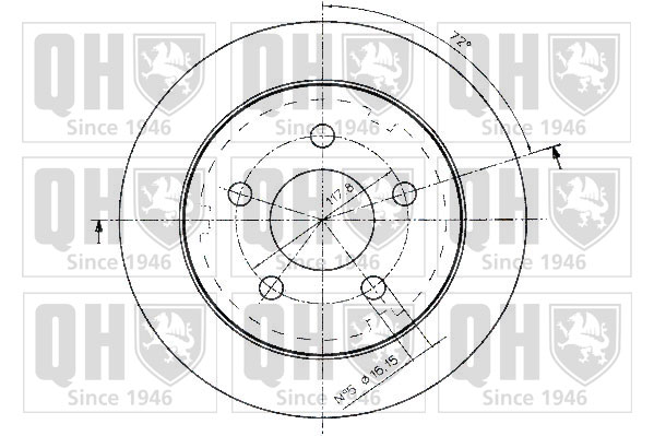 Mintex MDC1617 Front Brake Discs x2 312mm Diameter Vented 28mm Thickness