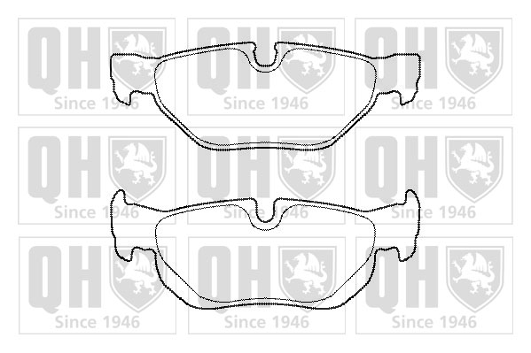 Brake Pads Set fits BMW 120 E88 Rear 2.0 2.0D 08 to 13 QH 34216767150 Quality
