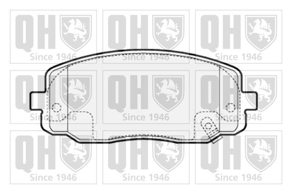 Genuine Qh Brake Pad Braking System Replacement Front Axle Hyundai Kia Bp1515