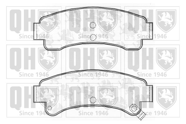 Brake-Pads-Set-fits-NISSAN-SUNNY-N13-1-6-Rear-86-to-91-QH-4406015A85-4406015A87