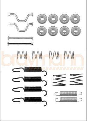 Toyota RAV4 MK2 2.0 VVT-i 4WD Braymann Rear Handbrake Shoe Accessory Fitting Kit