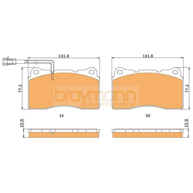 Fits Fiat Coupe 175 2.0 20V Turbo Braymann Front//Rear Brake Pad Fitting Kit
