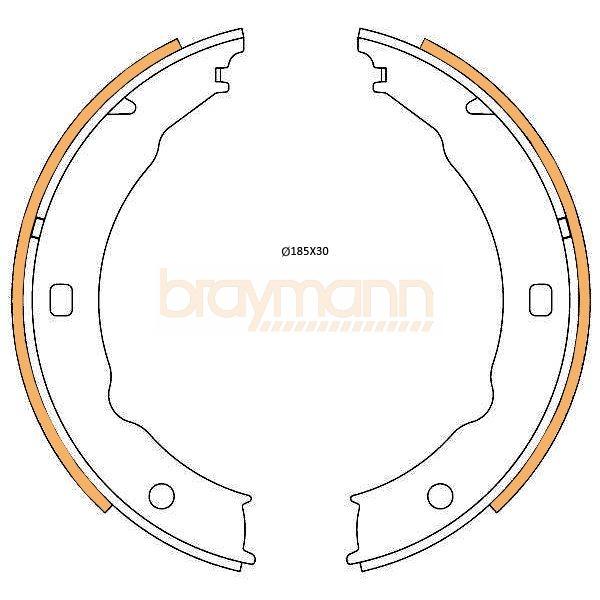 Peugeot 406 2.2 HDi Genuine Braymann Rear Hand Brake Shoe Accessory Fitting Kit