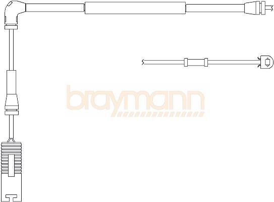braymann brake pad wear indicator sensor front bwl0042   brake pad wear sensors