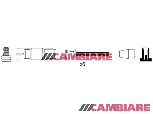HT Leads Ignition Cables Set VE522859 Cambiare Genuine Top Quality Replacement
