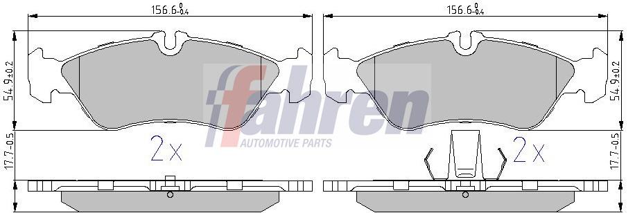 Brake Pads Set FBP0065 Fahren 0024204020 0024206020 0044202720 9024230510 New