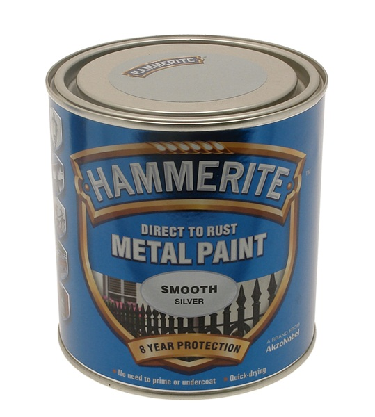Hammerite 572 Smooth Metal Paint Silver 5084897 Paints