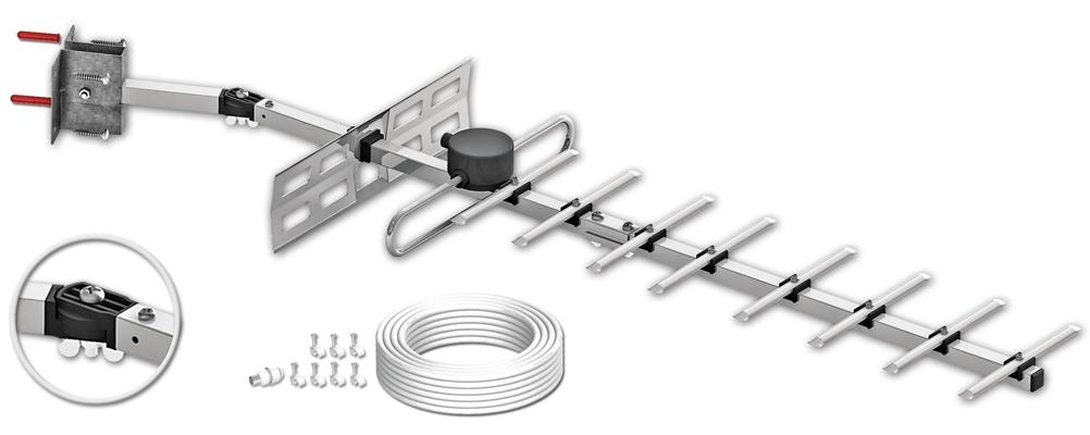 Maxview Selfix 10element Wbuhf Tv Aerial Kit Mxr0010 Kit