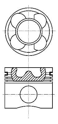 Fiat-Grande-Punto-199-1-3D-Piston-2005-sur-moteur-199A2-000-nural-71729500-nouveau