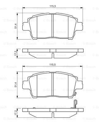 Details about ke Pads Set fits TOYOTA COROLLA NZE121 1.5 Front 01 to on